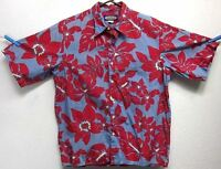 PHIL EDWARDS BY REYN SPOONER MENS (M) FLORAL BUTTON-FRONT HAWAIIAN SHIRT EUC USA