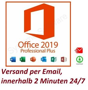 Microsoft Office 2019 Professional Plus  ✔ DEUTSCH ✔ 1 PC ✔ Für Windows 10 NEU