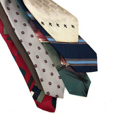 Lot of 6 Vintage Christian Dior Ties Neckties Assorted Geometric Abstract Stripe