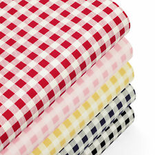Cotton Fabric by FQ Classic London Gingham Plaid Check Cowboy Printed Quilt VK71