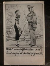 1943 Mattersburg Austria Germany picture Postcard Cover Soldier And Woman