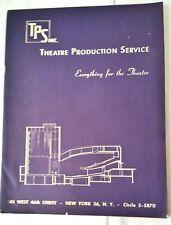 Catalog- TPS Theatre Productions Service Equipment Costumes & Supplies