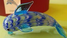 Vtg Fitz & Floyd Dolfin Glass Menagerie Figurine 43/136 2004
