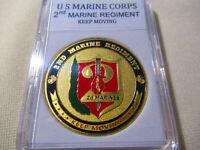 US MARINE CORPS - 2nd MARINE REGIMENT Challenge Coin