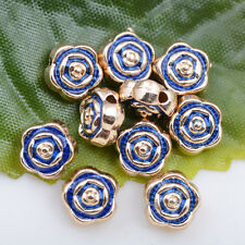 Wholesale 3pcs tibet silver beautiful rose flower spacer beads charm 7x4mm#A5465