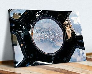 EARTH VIEW FROM SPACE STATION NASA CANVAS WALL ART ARTWORK 30MM DEEP FRAMED