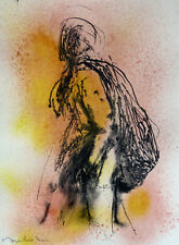 TWILIGHT 2 original art drawing pilgrim ink on paper 21x29 cm FREDERIC BELAUBRE