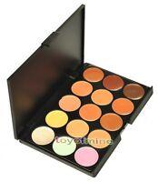 15 colores de maquillaje Sombra de Ojos Neutro Camuflaje Facial Corrector Paleta