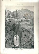 1880 LA RESSIA PLANAVAL VALGRISENCHE Arvier Valle d'Aosta litografia alpinismo