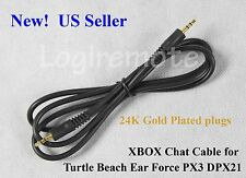 2.5mm Talkback Cable:PX3 DPX21 Turtle Beach Ear Force/XBOX live chat/Gold plated