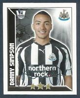 TOPPS 2011 PREMIER LEAGUE #287-NEWCASTLE UNITED-MANCHESTER UNITED-DANNY SIMPSON