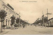 CARTE POSTALE AFRIQUE TUNISIE FERRYVILLE AVENUE DE FRANCE
