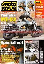 MOTO REVUE 3690 YAMAHA MT-03 HONDA VTX 1300 VFR 800 Vtec BMW F800 S ST K1200 GT