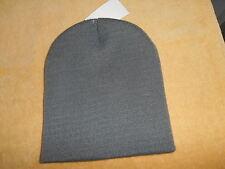 BOYS YOUTH GREY ACRYLIC BEANIE HAT (8-20) 100% ARCYLIC  NWT BEALLS STORE BRAND