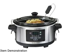 Hamilton Beach 33969A Metallic 6 Qt. 6 Qt Set & Forget Programmable Slow Cooker