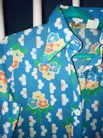 VTG 60s 70s BEELINE Print Shift Mod Floral Dress m/l 40