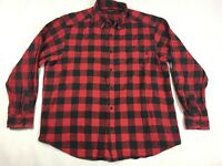 Wolverine Red Buffalo Check Plaid Flannel Shirt - Men's Size 2XL