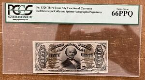 FR 1328 50¢ Third Issue Fractional Currency PCGS 66 PPQ