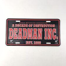 WWF Deadman Inc License Plate 2000 Undertaker Metal Souvenir WF Attitude Wrestle