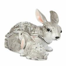 RABBIT + BABY Trinket Box / Ornament Gift *NEW* Boxed