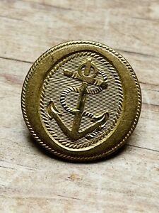 Rare Old Victorian Royal Navy Anchor Gilt Button By Charles Jennens, London