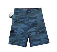 "NEW! AUTHENTIC BURNSIDE MEN'S BOARDSHORTS /WATERSHORTS (BLUE CAMOU, WAIST 30"")"