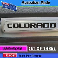 Door Decal fits Holden Colorado door Matt Black finish - set of 3 sticker