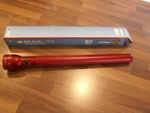Maglite Torch 6 D Cell RED BNIB