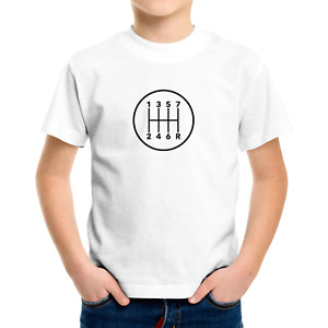 7 Speed Stick Manual Transmission Infant Baby Bodysuit Toddler Kids Tee T-Shirt