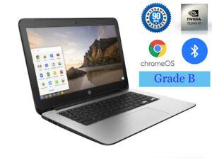 HP Chromebook 14 G3 inch screen 2.1GHz 4 GB RAM 16 GB SSD Laptop Wifi Bluetooth