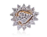 0,19 Cts Runde Brilliant Cut Natürliche Diamanten Nasenstecker In 750 18K Gold