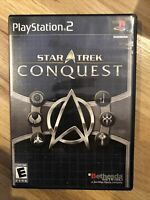 Star Trek: Conquest (Sony PlayStation 2, 2007) PS2 CIB complete game RATED E