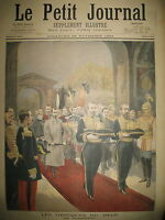 RUSSIE LIVADIA OBSEQUES DU TSAR ALEXANDRE III FUNERAILLES LE PETIT JOURNAL 1894