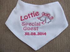 Personalised Baby Bandana Bib - Embroidered - Wedding, Bells -Colour Choice Gift