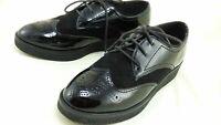 CARVELA KURT GEIGER Black Leslie Platform Brogue Shoes Oxford Suede Patent UK 5
