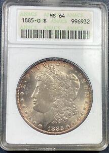 1885-O Morgan Dollar  ANACS MS64 **Beautiful Toning**