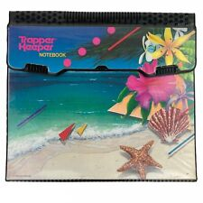 NICE! Vintage 1989 MEAD Trapper Keeper Paradise Beach 3-Ring Binder Notebook