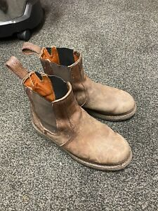 BUCKLER Dealer Boots Work Non-Safety Brown Leather
