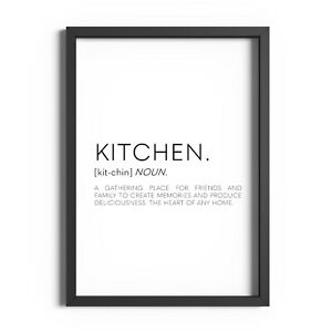 Kitchen Definition Print Wall Art Dining Room Home Decor Funny Poster Prints
