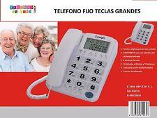 TELEFONO FIJO DE SOBREMESA PARA PERSONAS MAYORES TECLAS GRANDES PANTALLA