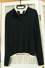 "PIERRE CARDIN Cotton Jumper 38"" Men's M Women's L Unisex Funnel Neck Sweater"