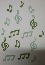 *MUSIC NOTES*. Die-cuts x 16 ~  2 Shades of Green ..GREAT FOR SCRAPBOOKING/CARDS