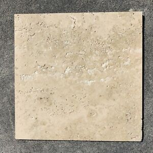 18x18 Beige Travertine Outdoor Tile - Clearance Stock