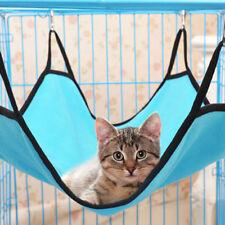 Fe- Ab_ Pet Cat Hanging Hammock Soft Fleece Hamster Rabbit Cage Bed Ferret Mat S