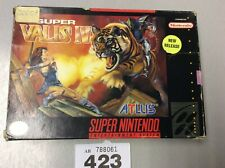 Super Nintendo (snes) Ntsc Super Valis Iv Boxed