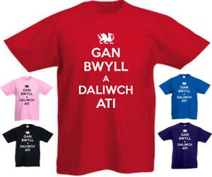 Gan Bwyll A Daliwch Ati Welsh Wales New Funny Kids Present Gift BirthdayT-shirt