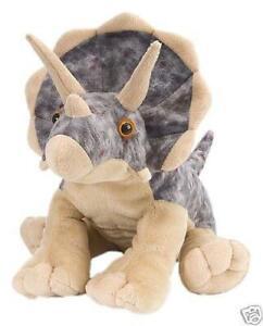"Triceratops Dinosaur soft plush toy 12""/30cm Cuddlekins Wild Republic NEW"