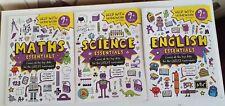 English Maths & Science  essentials  9+ years Help with homework /3X  workbooks