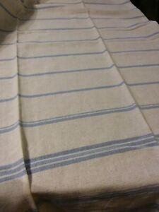 """INDABA HOME PASSION - WHITE AND BLUE TABLECLOTH - 100% COTTON - 37""""x72"""" - INDIA"""