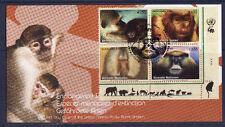 c/ ONU enveloppe espèce menacées d'extinction animaux sauvages singes  2007 euro